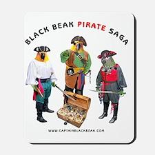 BLACK_nnBEAK_WHITE_TSHIRT Mousepad
