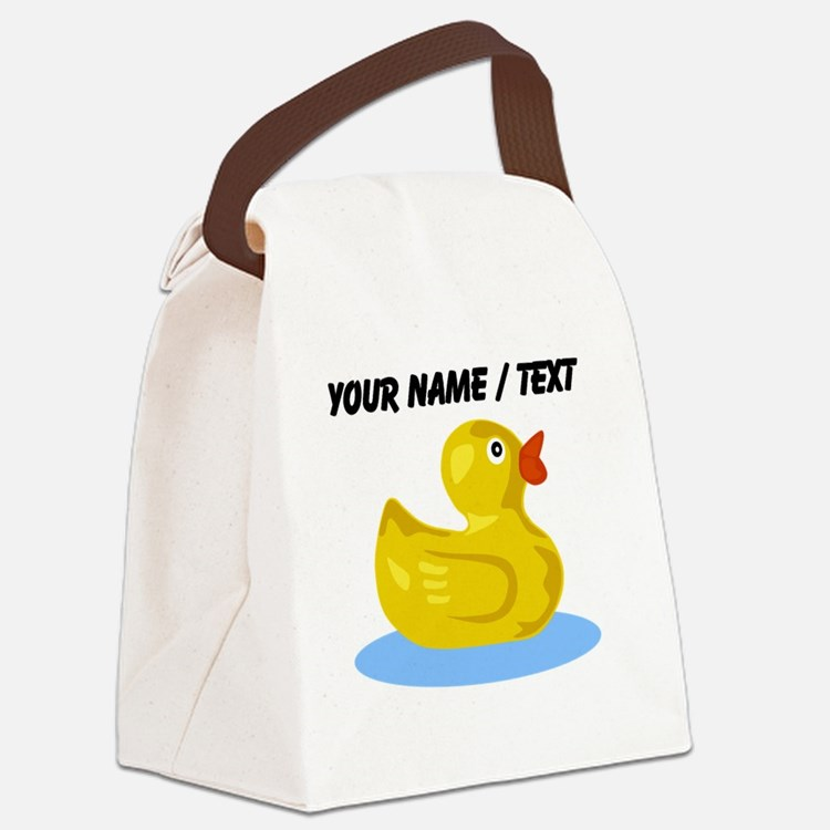 Custom Yellow Rubber Duck Canvas Lunch Bag
