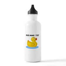 Custom Yellow Rubber Duck Water Bottle