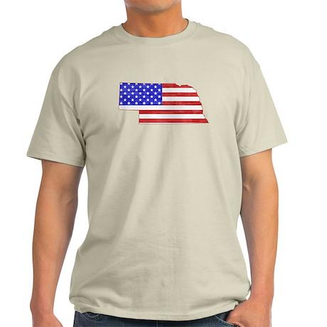 Nebraska Flag Light T-Shirt
