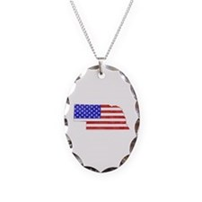 Nebraska Flag Necklace
