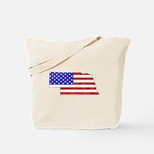 Nebraska Flag Tote Bag