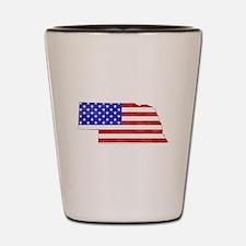Nebraska Flag Shot Glass