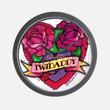 Twilight Twidaddy Tattoo Heart Wall Clock