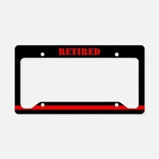 Retired Firefighter License Plate Holder