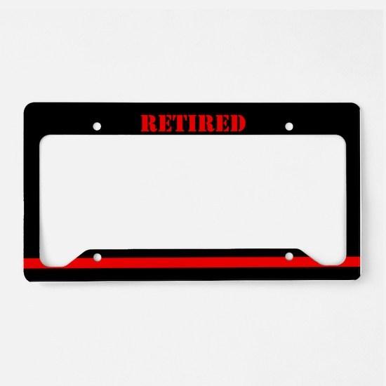 Retired Firefighter License Plate Holder