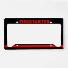 Firefighter License Plate Holder