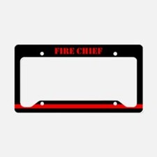Fire Chief License Plate Holder