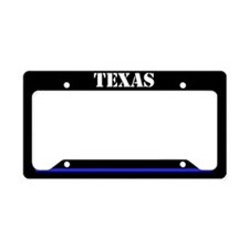 Texas Police License Plate Holder