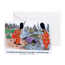 king face down in the river Greeting Card