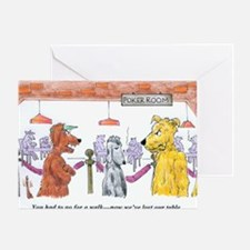 Poker Playing Dogs Greeting Card