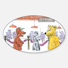 Poker Playing Dogs Decal