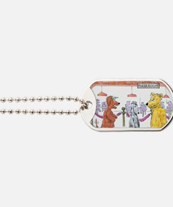 Poker Playing Dogs Dog Tags