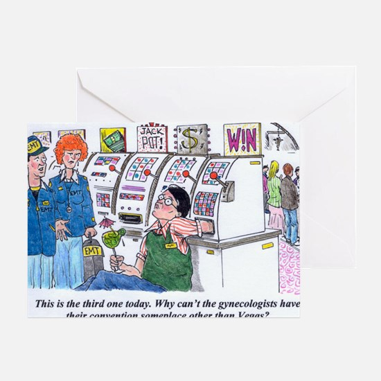 Gambling Gynecologists Greeting Card