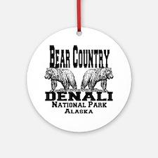 bearcountry_denali_alaska Round Ornament