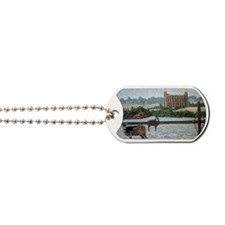 Logan temple oil painting 14x10 Dog Tags