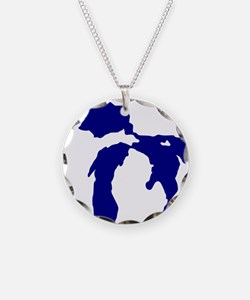 great_lakes Necklace Circle Charm