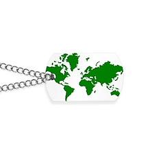 world_map Dog Tags