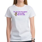 Dogs Can't Read Women's T-Shirt