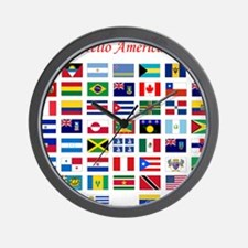 America flags tile Wall Clock