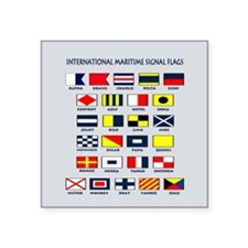"""Maritime flags pillow Square Sticker 3"""" x 3"""""""