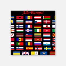 "European flags_mousepad Square Sticker 3"" x 3"""