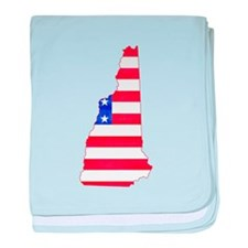 New Hampshire Flag baby blanket