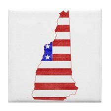 New Hampshire Flag Tile Coaster
