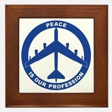 Peace Is Our Profession - B-52H Blue Framed Tile