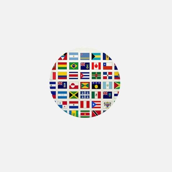 America flags light tee Mini Button