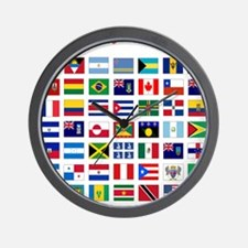 America flags light tee Wall Clock