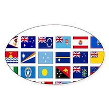 Oceania flags light tee Decal