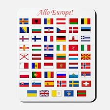 European Flags_dark tee Mousepad
