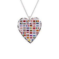 European Flags_dark tee Necklace