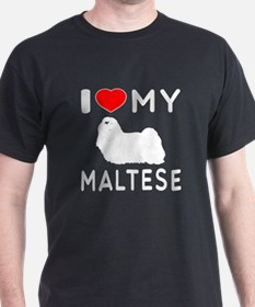 I Love My Dog Maltese T-Shirt