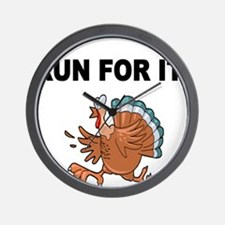 RUN FOR IT!-WITH TURKEY Wall Clock