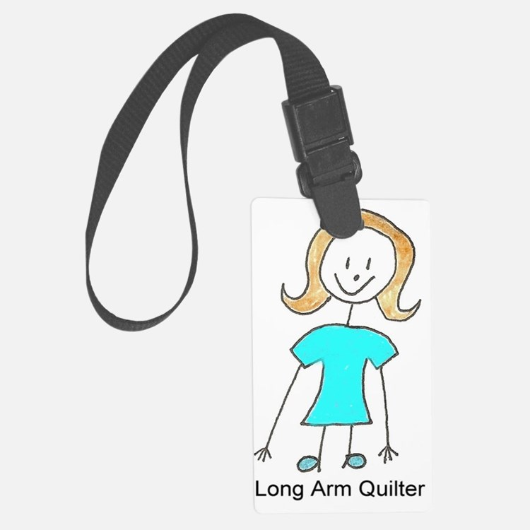 stick quilter w text lg Luggage Tag