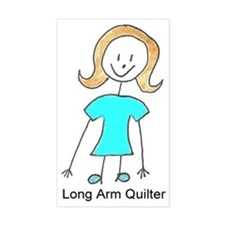 stick quilter w text lg Decal
