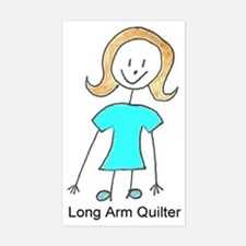 stick quilter w text Stickers