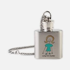stick quilter w text Flask Necklace