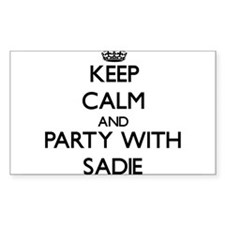 Keep Calm and Party with Sadie Decal