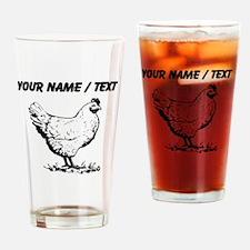 Custom Chicken Sketch Drinking Glass
