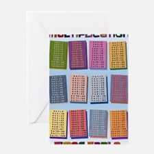 2-Times Tables _small poster Greeting Card