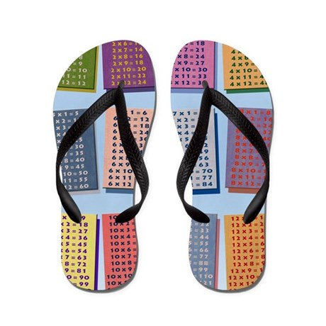 2-Times Tables _small poster Flip Flops