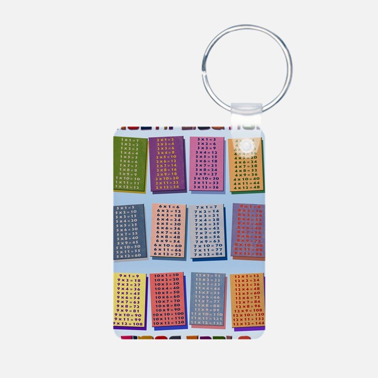 2-Times Tables _small post Keychains
