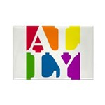 Ally Pop Rectangle Magnet (10 pack)