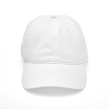 lightscameraaction-whiteonblack Baseball Cap