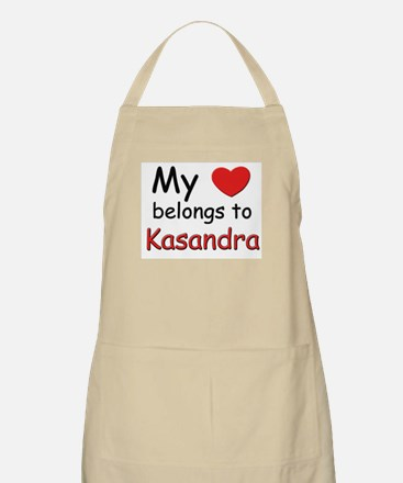 My heart belongs to kasandra BBQ Apron