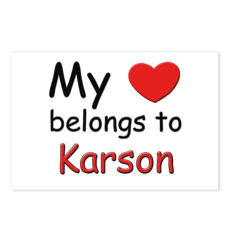 My heart belongs to karson Postcards (Package of 8
