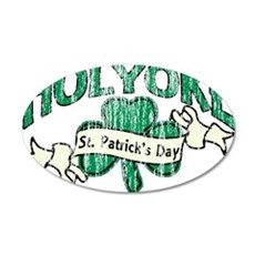 holyoke-st-pats-retro_tr 35x21 Oval Wall Decal